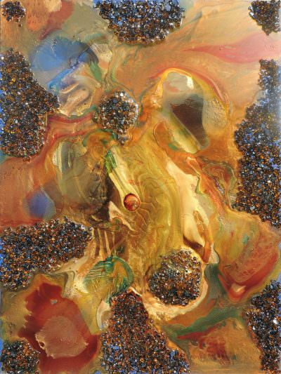 Agate Isles Emerging 48 x 36 ~ painting by Ukwensi Chappell