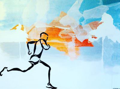 RUNNER II ~ A painting by Scott Fredrick