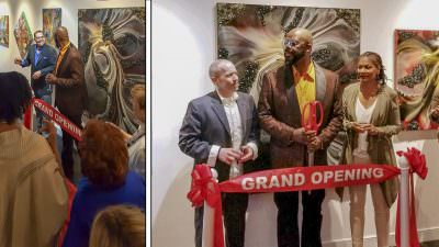 Ribbon Cutting With Jamie Scott Gia - Gallerie Ukwensi Grand Opening