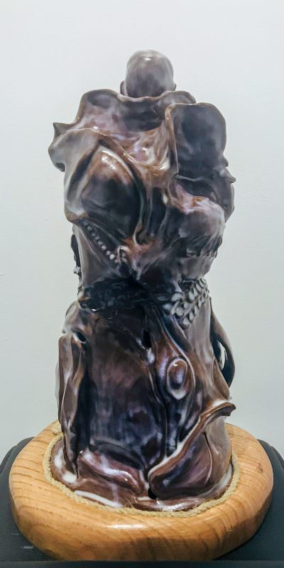 Monk (back) ~ Sculpture by Gia Labidi