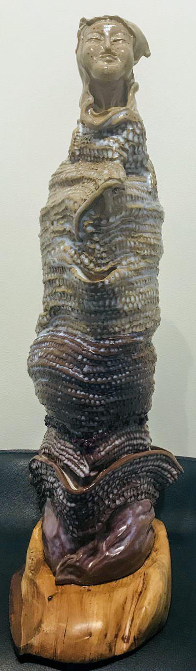 Quan Yin (Front) ~ Sculpture by Gia Labidi
