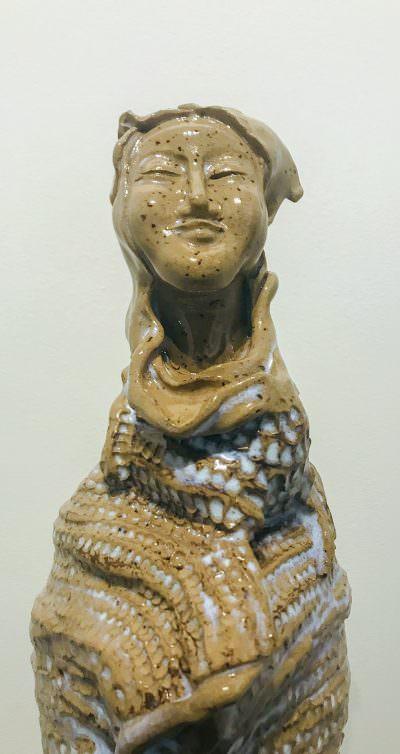 Quan Yin Close Up) ~ Sculpture by Gia Labidi