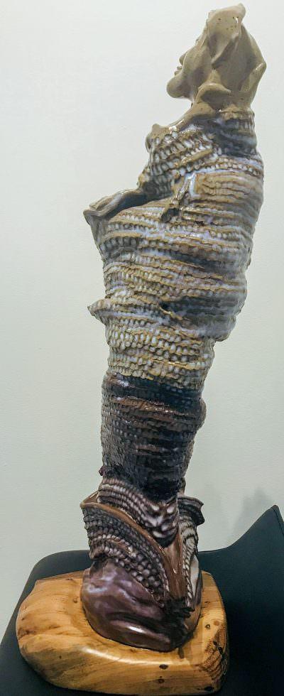 Quan Yin (Left) ~ Sculpture by Gia Labidi
