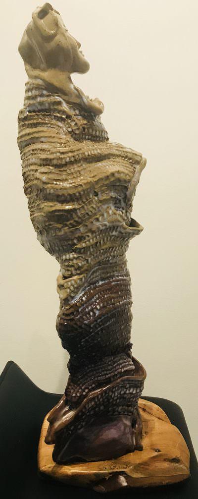Quan Yin (Right) ~ Sculpture by Gia Labidi